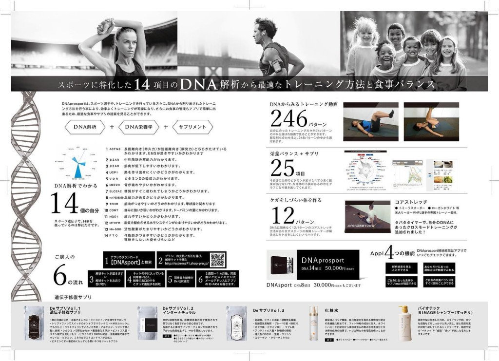 新MENU『遺伝子解析』